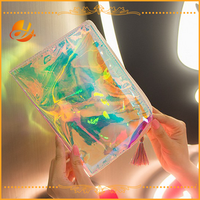 laser color clear pouch bag cosmetic