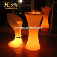 Plastic Color Changing Bar Cocktail Table Holiday Wedding Decoration Light Up Furniture