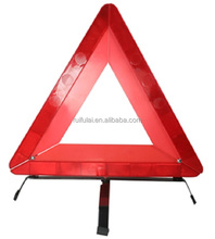 Bright red led foldable car warning safety kit emergency reflective triangle