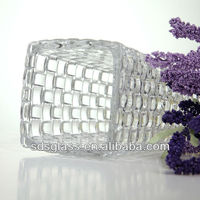 Hight quality tall clear glass vase for wedding