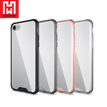 HWcase China manufacturer TPU Tempered Glass Crystal Tofu phone case for iphone 7