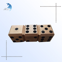 Factory directly sale solid wood custom polyhedral dice