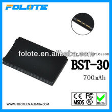 Mobile battery bst-30 For Sony Ericsson cell phone K500 k300 lithium battery dual IC 1000mah