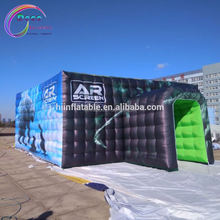 Outdoor Advertising Inflatable water cube aquarium Tent / Inflatable Marquee / Inflatable Structure with full printing
