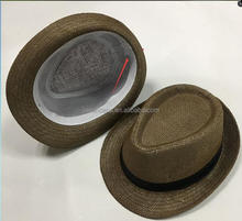 cheap wholesale Panama Fedora Mens paper Straw Hat Trilby Fedora Hat
