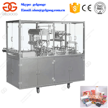Factory Supplier Stainless Steel Automatic Continuous Tea Box Cellophane Packing Machine