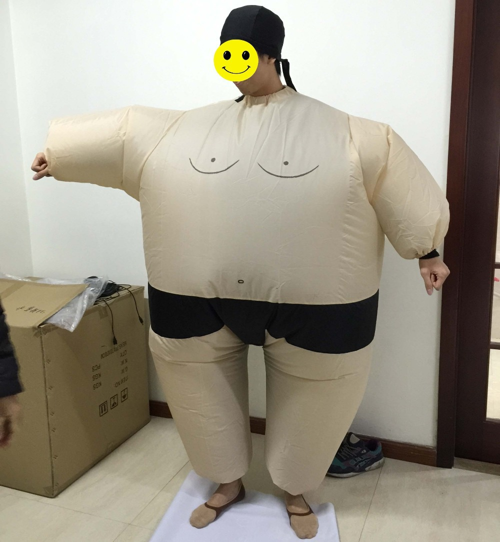 one size fit all adult and kids size available inflatable sumo wrestler costume