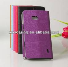 Stand case for Nokia Lumia 929 Wooden skin wallet leather