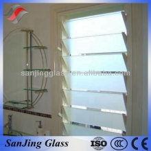Glass panel louver
