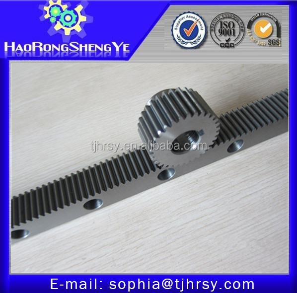 Spur gear rack and pinion