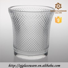 high quality modern diamond design cylinder crystal glass lamp shade for droplight pendants