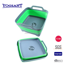 collapsible sink strainer,folding sink stainer,square plastic foldable sink strainer with PP and TPR material