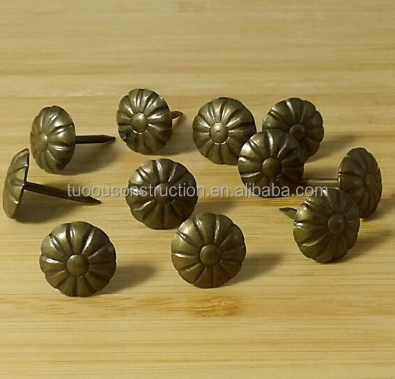 Special bronze decoration button/nail for sofa