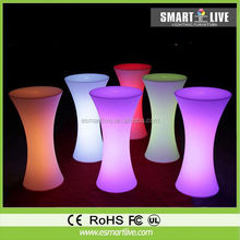 Charming graceful lighting luxury Krion Solid Surface led Bar Counter