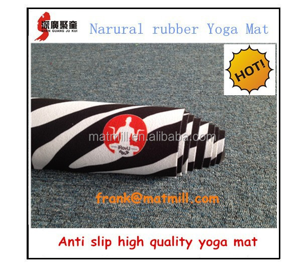 1880*650*3mm,4mm thick suede fabric custom printed natural rubber yoga mats