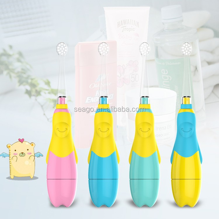 Flashing Led Battery Operated Baby /Kids Sonic Electric toothbrush with SG513