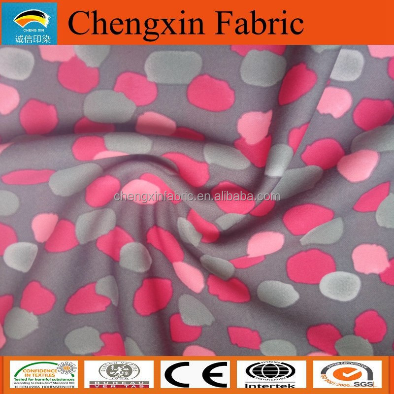 print 100% polyester interlock fabric for vest sports wear 75d
