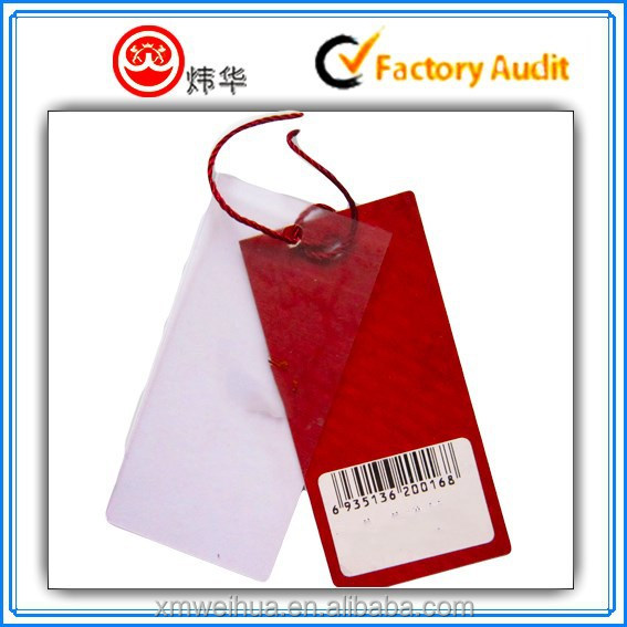 Red Eco-friendly Paper Hang Tag For Clothing/garment/shoes