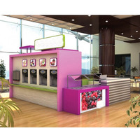 ice cream vending kiosk juice bar design