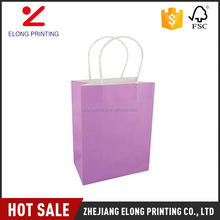 High end trendy style package gift shopping paper bags bulk