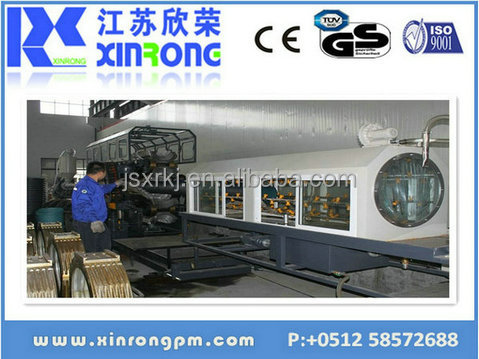 working machine shows anytime plastic double wall corrugated tube plant
