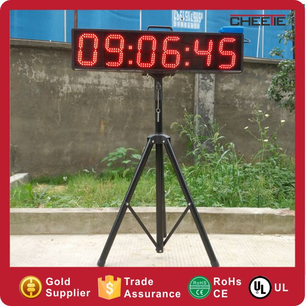 Hangzhou Super Bright Display Battery 6 Digit 6 Inch Large LED Countdown Timer in LED Displays