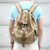 2350 Best Selling Army Green Business Men's Vintage Canvas Male Backpack Bag with Leather Trim