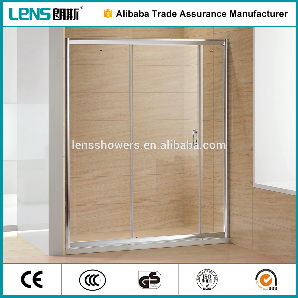6mm glass wet room with screen raindrop glass shower door frame only