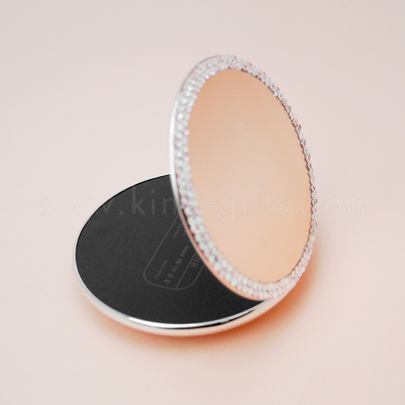 Hot sell Mirror power bank rhinestone style power bank mirror for promotion gift