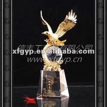 golden exquisite metal casting trophy cup, Eagle