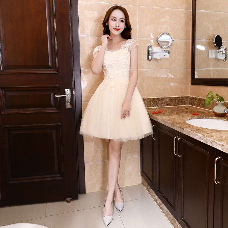 JS 24 Cheap Cocktail Party Junior Knee Length Bodycon Sisters Bridesmaid Dress D2363
