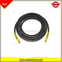 "6mm SAE100 R1AT 1/4"" hydraulic high pressure flexible wire braided nylon with protector for water line rubber hose price"