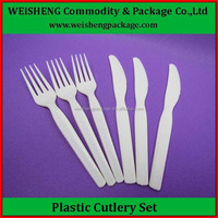 Hot selling plastic cutlery/pp disposable soup spoon,knife,fork