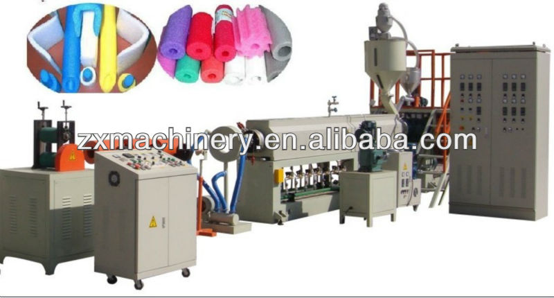 Plastic Expanded making machinery for EPE foam pipe/rod production line