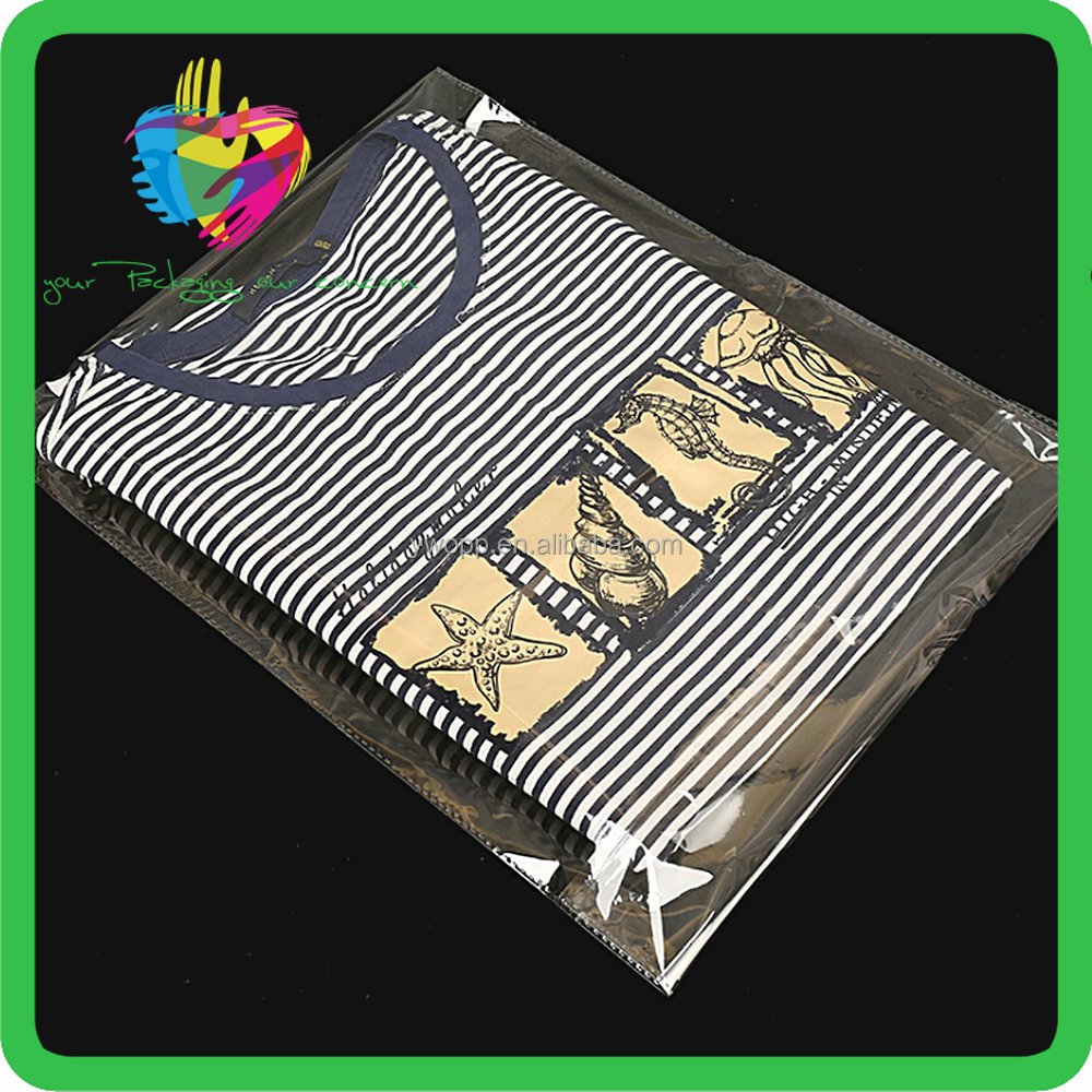 China Professional Custom Resealable Transparent Clear Opp Plastic Zipper Bag Manufacturer