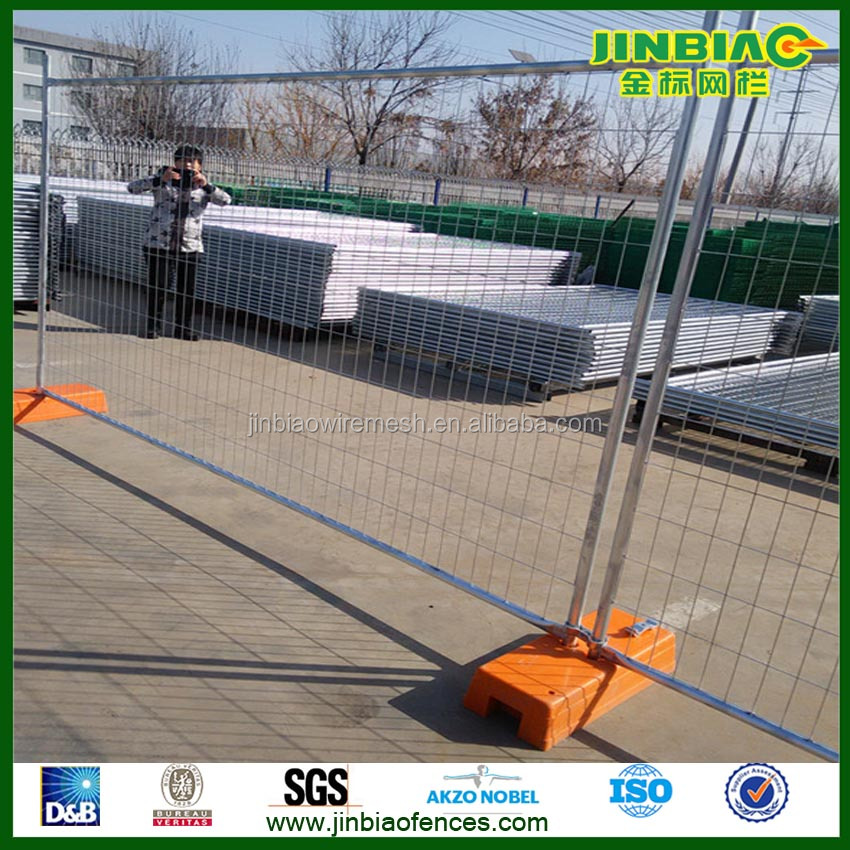 galvanized temporary fence square wire mesh fence with bases