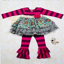 Remake brand name clothing toddler boutique sets girls wholesale cheap factory clothes