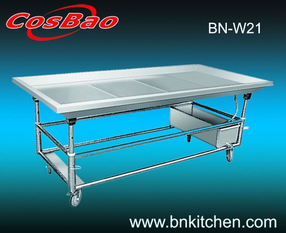 Hotel / kitchen equipment stainless steel seafood workbench / worktable BN-W21