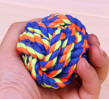 Cotton Cat toy dog tennis ball dog baoll rope pet cat hamster ball