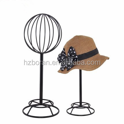 Excellent Quality Helmet Stand/Hat Stand Hat Counters Retail Metal Hanging Display Racks