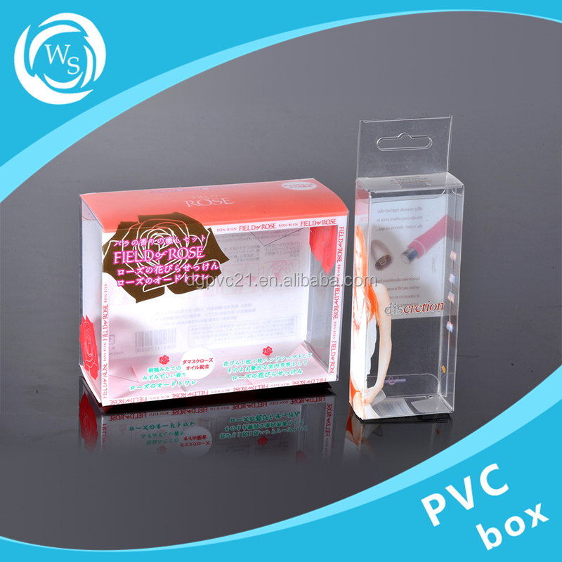 cosmetic eyelsh glue transparent pet plastic container case box clear pvc box