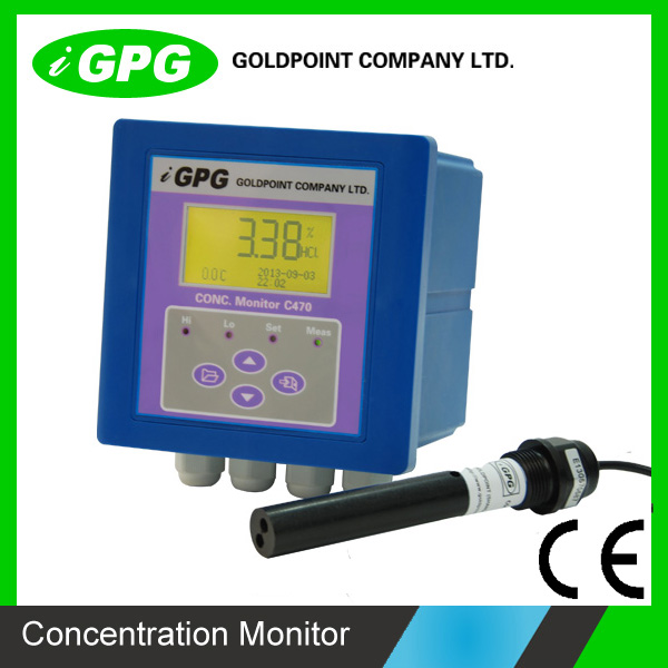 CE confirm C470 Industrial High Intelligent Acid Alkali Concentration Meter/analyzer