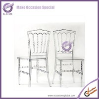 16038 Crystal Clear Wedding Napoleon Resin Napoleon Chair