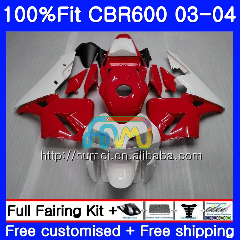 Injection For HONDA CBR 600RR F5 CBR600 RR 03-04 11HM126 red white CBR600RR F5 03 04 CBR600F5 CBR 600 RR 2003 2004 Fairing kit