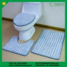 Fashion bathroom accessorie toilet rug cover set