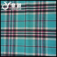 100% Cotton Check Shirt Fabric For Overcoat Combed Cotton Fabric