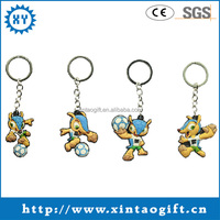 Customized series cheap metal Fuleco keyring for 2014 brazil world cup
