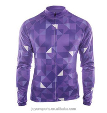 Sublimation custom long sleeve cycling jersey sets wear riding suit bicycle wholesale crazy