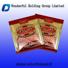 Customized beef jerky/pork/snack packaging bags with clear window bag