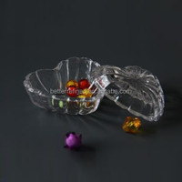 Heart Shaped Cut Glass Trinket Box